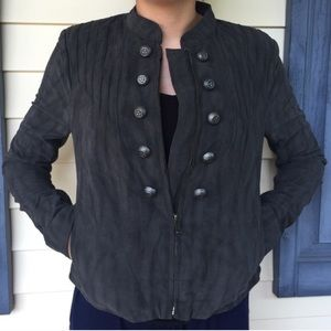 NWT Free People Suede Military Jacket